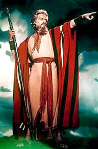 Charlton Heston in The Ten Commandments